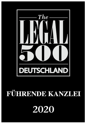 Auszeichnung Legal 500 Deutschland